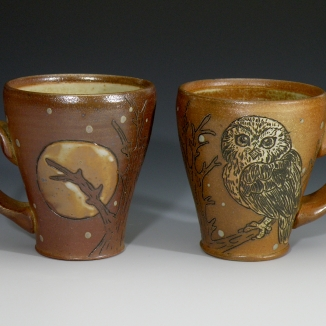 Saw-whet Owl & Moon Mugs